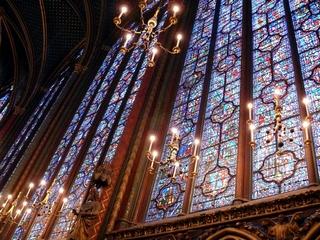 vitrail, Sainte Chapelle, Paris, lumière, couleurs