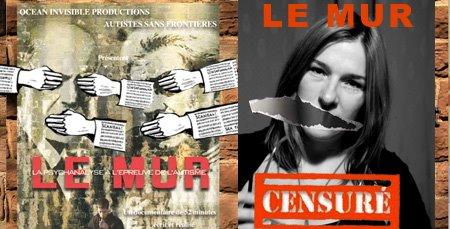 Le-mur-censure, Sphie Robert, Autistes sans frontières