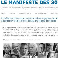 Mediator, Manifeste des Trente, Servier, scandale